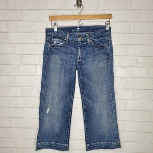 7 For All Mankind Distressed Dojo Crop Jeans